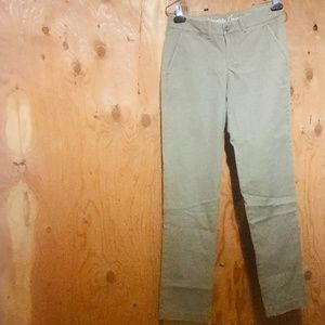 J. CREW Waverly Chino Pants - Faded Olive Green 0